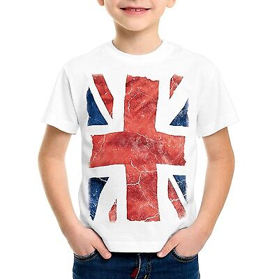 Kinder Union Jack T-Shirt England London Flagge GB UK Queen Windsor Kostüm (London Kostüm Kinder)