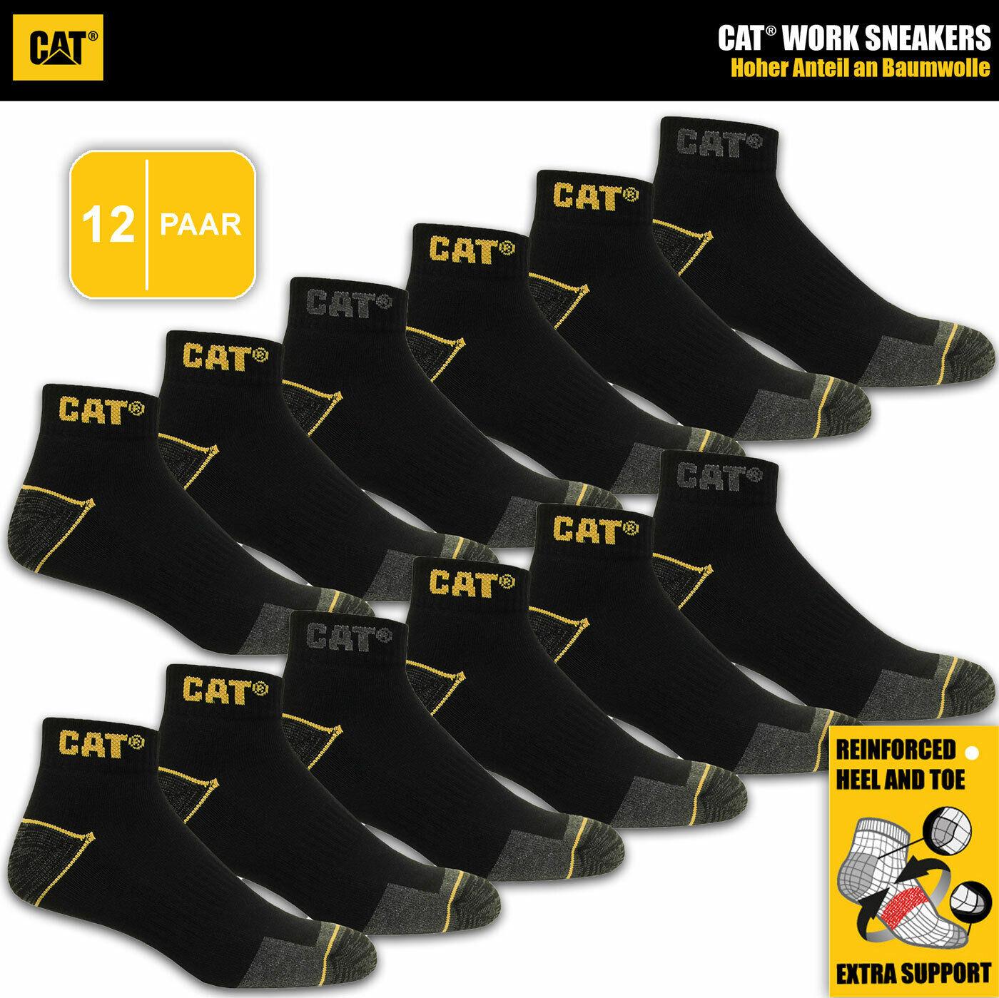 12 Paar CAT® CATERPILLAR WORK SNEAKERS Arbeits Sneaker Socken Strümpfe 🧦 39-46
