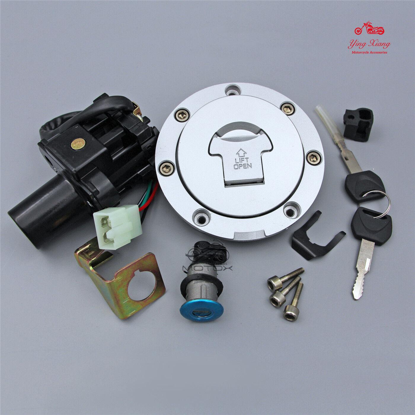 Ignition Switch Lock Fuel Gas Cap Key Set Fit For Honda CB900F CB919 CB1300