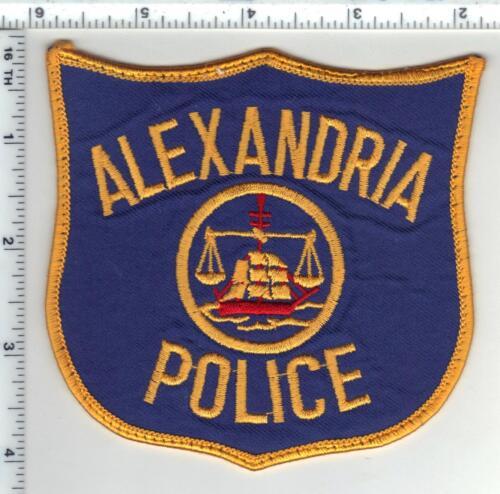 Alexandria Police (Virginia) Uniform Take-Off Orange Border Shoulder Patch