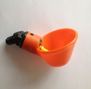 5-Chicken-Drinker-Cups-automatic-float-poultry-waterer-drink-cup-coop-system-NEW