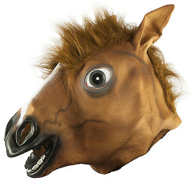 pf Tiermaske Maske Pferd Fasching Karneval Party Gag (Pferd Kopf Maske)