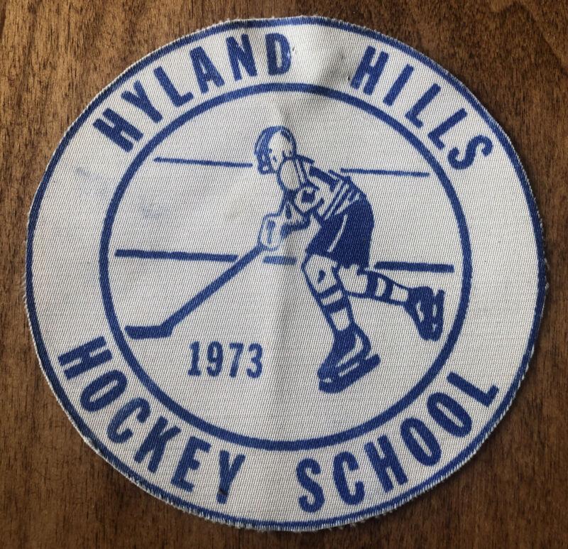 Hyland Hills Hockey School Patch vtg 1973 Northern Denver Colorado FIRST YEAR!