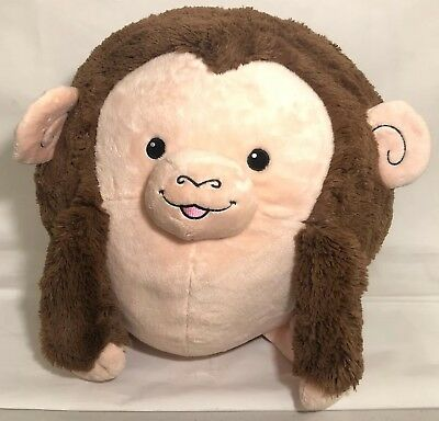 "Squishable 15"" Big Round Brown Monkey 2 Ape Plush Stuffed Animal Retired Rare - Big Stuffed Monkey"