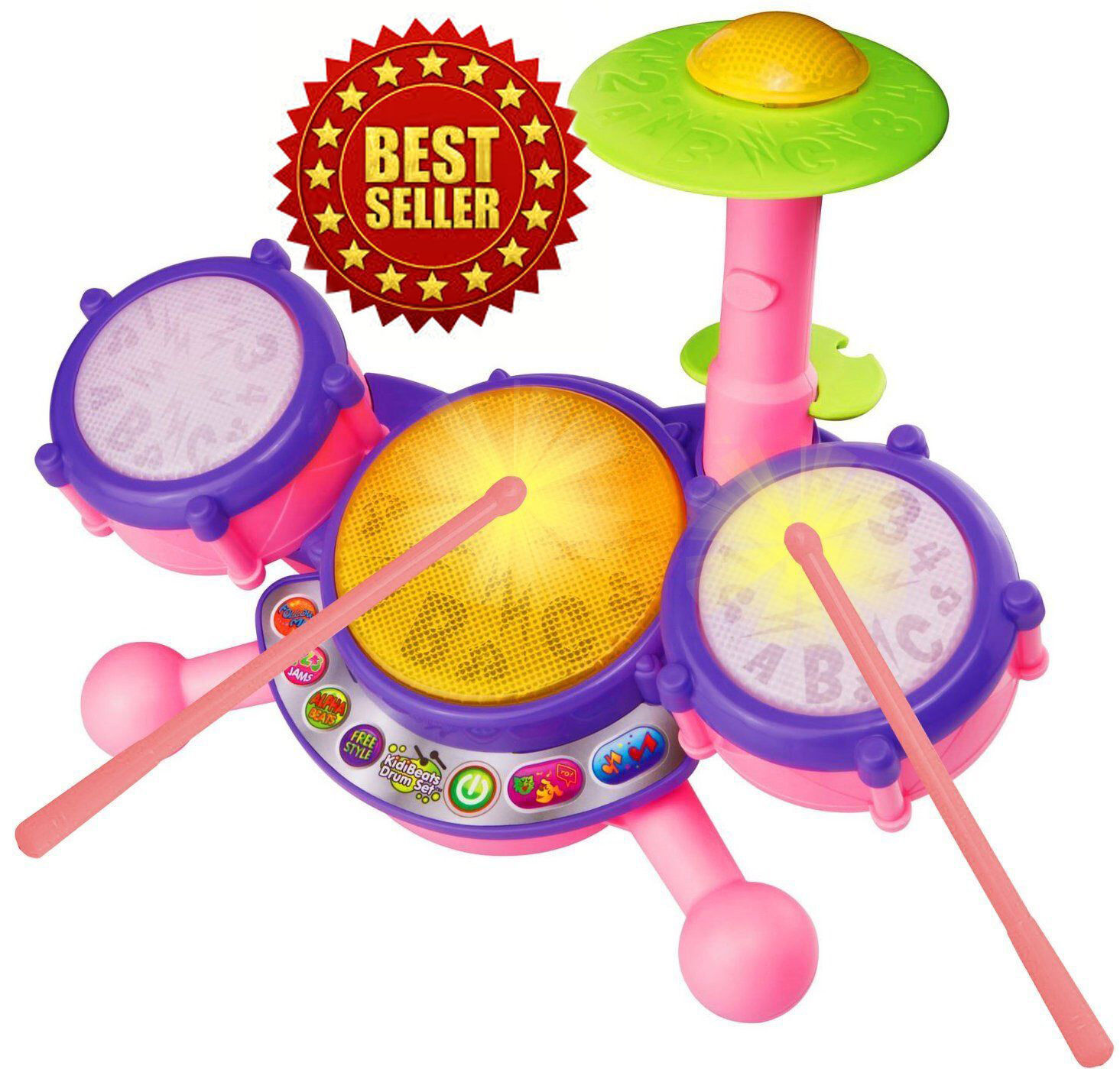 Vtech KidiBeats Pink Exclusive Drum Set Kids Music Girl Toys
