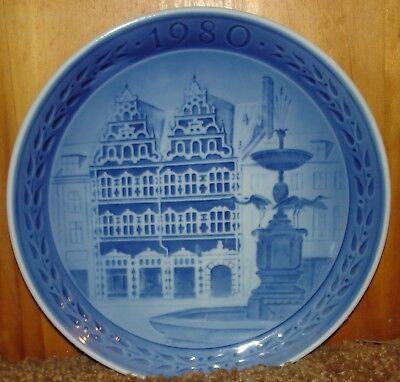 Royal Copenhagen 1980 Amagertorv Kobenhavn Plate -1st Quality