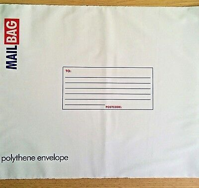 5x NEW - PARCEL POLY MAIL BAGS - LARGE - 33cm x 44cm x 5 Post Postal Mailing Bag