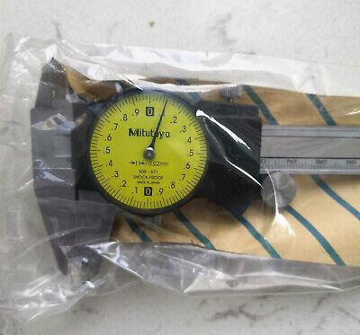 Mitutoyo 505-671 Dial Caliper 0-150mm X 0.02mm Brand New