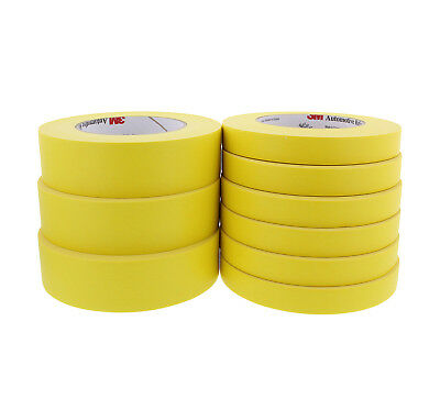 3M Automotive Refinish Masking Tape Kit, (3) 3M 06654 and (6) 3M 06652 - 9 Rolls