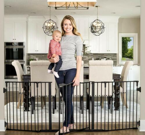 Regalo Deluxe Home Accents 74-Inch Widespan Safety Gate 1176 B DS