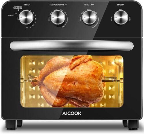 Aicook Air Fryer Toaster Oven Combo Rotisserie & Dehydrator FM9015 Black