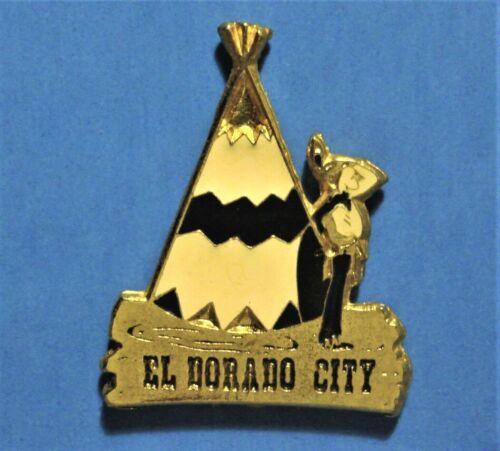 EL DORADO CITY - ARKANSAS - INDIAN & TEE PEE - VINTAGE 1991 LAPEL PIN - No 278