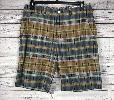 Polo Ralph Lauren Men's Multi-Color Madras Plaid 100% Cotton Shorts Size 33 ()