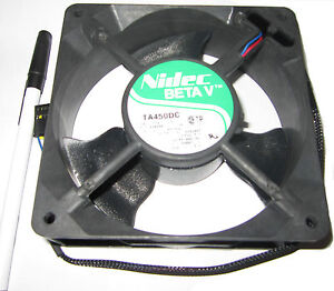Nidec 12v DC Server Cooling Fan, .49A, 4050 RPM, 5.28W 110 CFM 122394 C33211-71A
