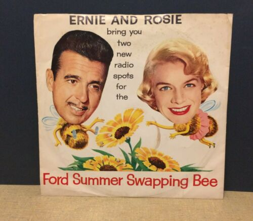 1959 Ford Radio Commercials Record 33 1/3 Tenn. Ernie Ford Rosemary Clooney Ads