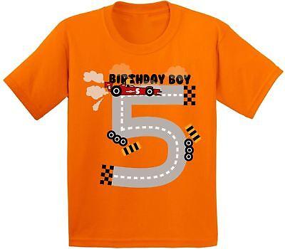 Birthday Boy Youth Shirt Race Car Birthday Party for Boys 5th Birthday Shirt (Party For Boys)