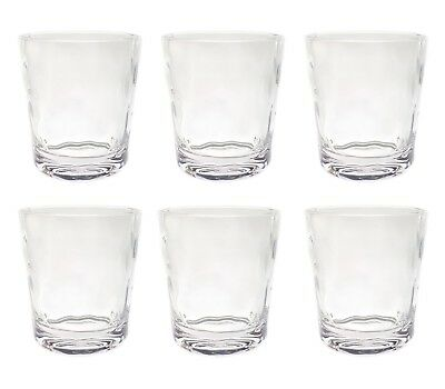 QG 14 oz Clear Acrylic Plastic Wine Rocks Glass Water Juice Cup Tumbler Set of 6 - Acrylic Wine Glasses