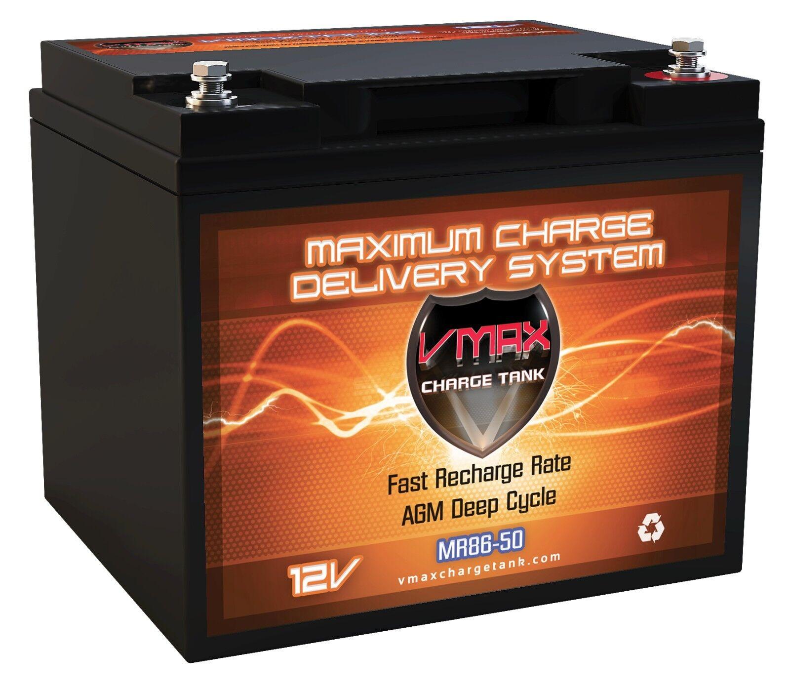 VMAX MR86-50 12 Volt 50AH AGM DEEP CYCLE MARINE AGM SLA DRY