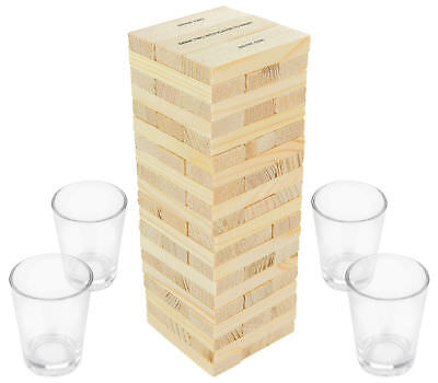 Dunken Blocks Shot Glass Drinking Game, A Tower Of Fun - Adult Party Holiday
