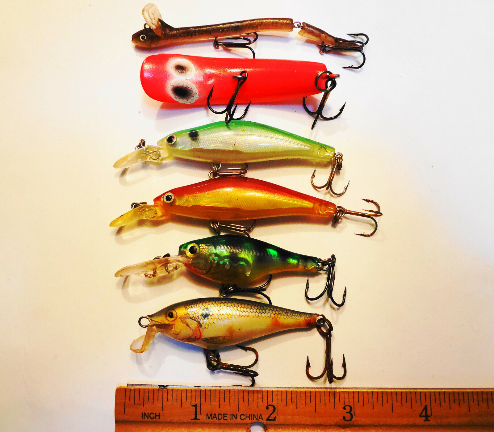 Crankbait Lures - Very Nice Condition - Including Eelet Lure - $12.99
