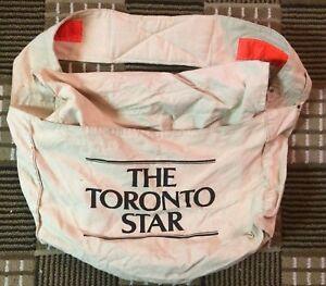 Vintage Toronto Star Canvas Newspaper Carrier Bag
