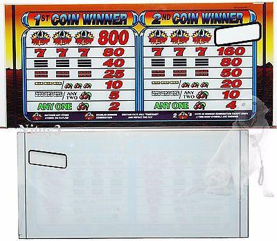"IGT Slot Machine Glass Panel "" Match Symbols """