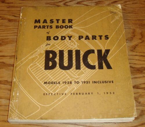 Original 1928 - 1951 Buick Master Body Parts Catalog Manual Book