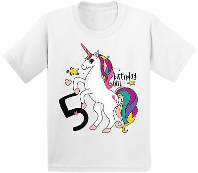 5th Birthday Girl (Birthday Girl Tshirt Girls 5th Birthday Party Girls Unicorn Shirt Unicorn)