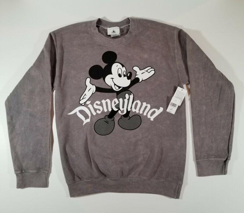 NEW Disney Parks Disneyland Resort Mickey Mouse Gray Sweatshirt Adult Small NWT