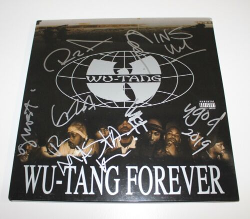 WU-TANG CLAN GROUP SIGNED WU-TANG FOREVER VINYL RECORD LP COA RZA METHOD MAN X8