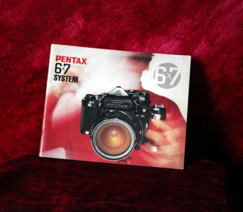 Pentax 6x7 slr brochure