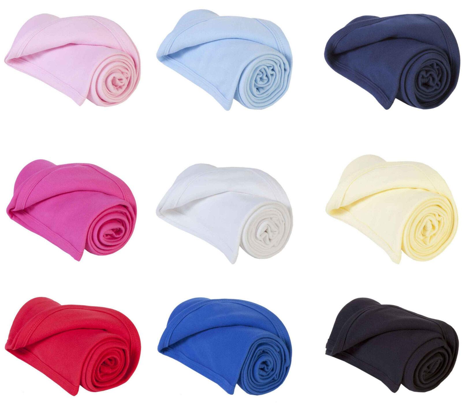 NUOVO da bambino ragazzi coperte scialle biancheria letto CARROZZINA 100% cotone