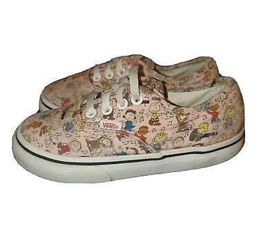 Vans 8 toddler low tops shoes pink Peanuts Snoopy Charlie Brown