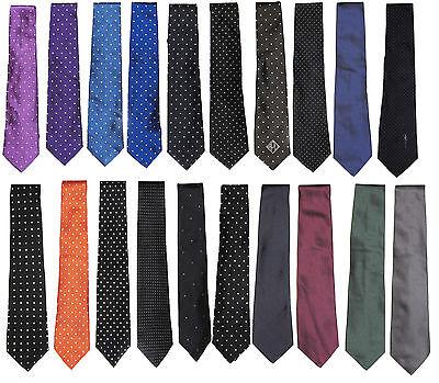 Satin Poka Dot - Ralph Lauren Purple Label Mens Hand Made Italy Poka Dot Silk Satin Knit Neck Tie