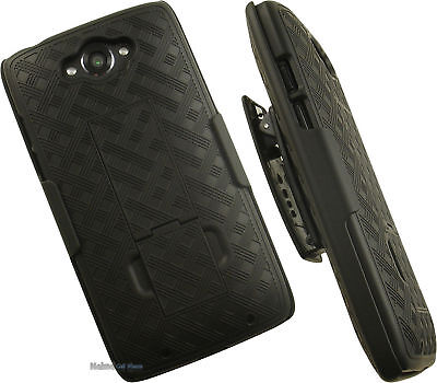 NAKEDCELLPHONE'S BLACK RUBBERIZED HARD CASE COVER WITH KICKS