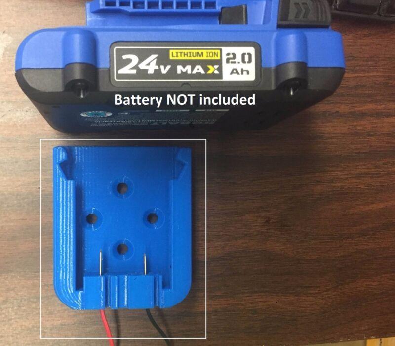 K24 Power Dock Battery Mount for Kobalt 24V Wired 16AWG DIY USA K24-MSL