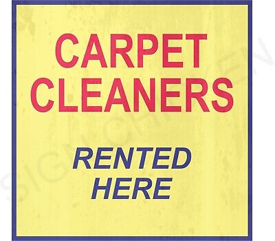 CARPET CLEANERS RENTED HERE Sign, similar to CORNER GAS, Canadian, Dog (Similar Here)