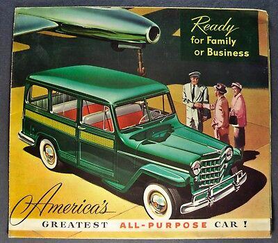 - 1953 Jeep Station Wagon Brochure Folder Willys-Overland Nice Original 53
