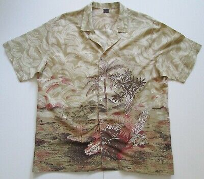 """Vintage Auth 70s 100% Cotton Hawaiian Shirt 47""""-122cm L (237H)"""