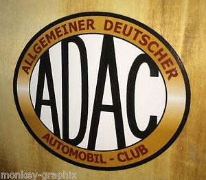 Oldschool Youngtimer ADAC Aufkleber / Retro Karosserieaufkleber Oldtimer Sticker