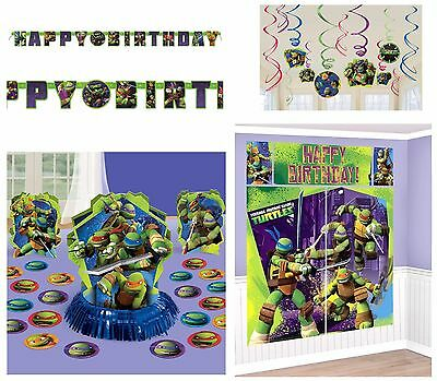 Teenage Mutant Ninja Turtles Party Banner, Wall Poster, Swirls & Table Decor Kit - Ninja Turtles Party Decorations