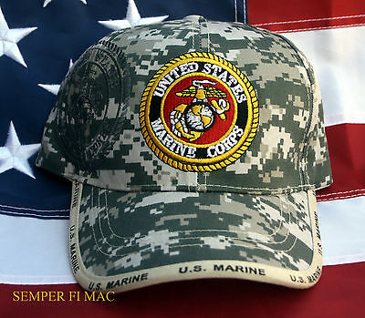 size 40 7febb 11623 US MARINES CAMOFLAUGE HAT CAP VIETNAM IRAQ MARINES WOWMH VETERAN MCAS MCB  FSSG