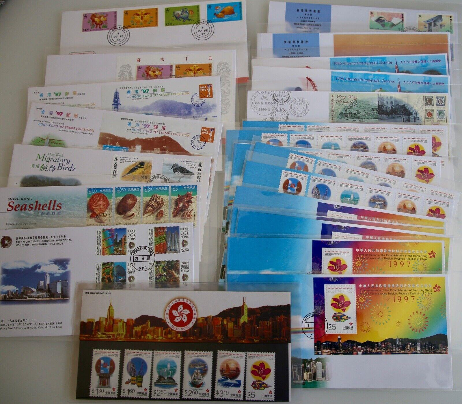 China - Hongkong 1997 - FDC Sammlung aus Abonnement