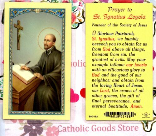 Saint Ignatius with Prayer to St. Ignatius Loyola - Laminated  Holy Card