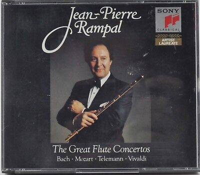 Jean-Pierre Rampal : The Great Flute Concertos - Sony 2 CD