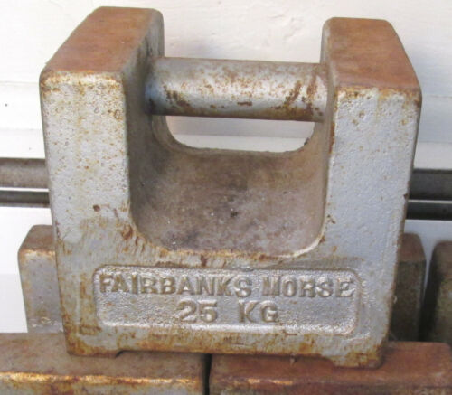 Fairbanks Morse 25 KG Calilbration Scale Weight 55 lbs