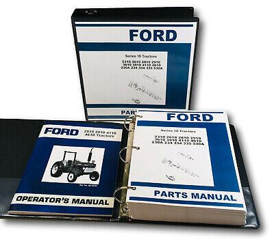 Ford 2910 3910 4110 4610 Series 10 Operators Manual Parts Assembly Catalog Set