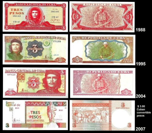 Lots of Banknotes $3 pesos UNC, C h e. Paper Money, Currency
