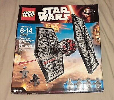 LEGO Star Wars lot Poe's X-Wing Fighter & Special forces TIE Figter 75101 75102