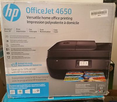 New HP OfficeJet 4650 Wireless All-In-One Printer Scan Copy Fax...